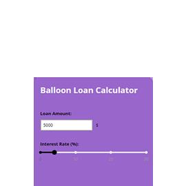 balloon payment calculator widget calconic