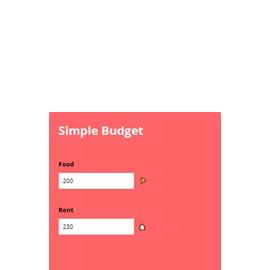 free budget calculator widget calconic